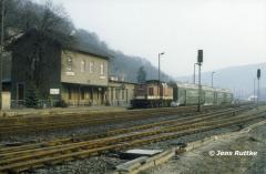 "<p style=""text-align:center"">204 834 in Dornburg vor Wendezug nach Saalfeld im Februar 1994 <br><br>Foto: Jens Ruttke</p>"